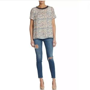 Marc by Marc Jacobs 100% Silk Top